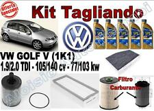 KIT TAGLIANDO OLIO ERG ONE 5W30 + FILTRI VW GOLF V 1.9/2.0 TDI DAL 2003 --
