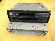 Sony XR-C350 Cassette Car Radio, DIN Shell, Wiring Harness