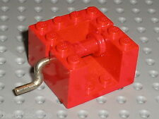 Treuil rouge  LEGO vintage red winch x378c01 / set 132 400 364 910 580 360
