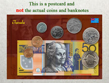 Postcard: Tuvalu Circulating Coins and Currency (Banknote) 2013