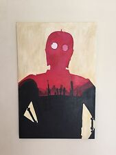 Star Wars Trilogy Mondo Force Awakens Olly Moss Poster Painting On Canvas 24x36