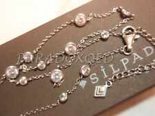 "SILPADA Retired Sterling Silver 925 ""Infinity"" Cubic Zirconia CZ Necklace N2153"