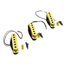 Genuine Fender American Select Solderless Stratocaster Pickup Set  Aged white