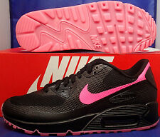 Womens Nike Air Max 90 Hyperfuse Premium iD Black Pink SZ 7.5 ( 822578-901 )