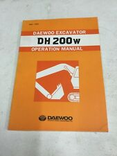Daewoo DH200W Excavator Operation Manual