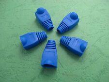 NEW 10pcs Modular Connector Plug Boot Cap For RJ45 CAT5/6 BLUE
