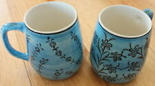 Turkish ceramic coffee cups handmade - handpainted, food safe - 3 colours