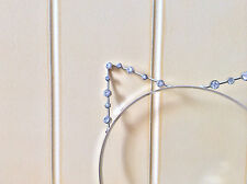 Kitty Cat Ears Headband Silver Cosplay Costume Crystal Tiara Concert Halloween