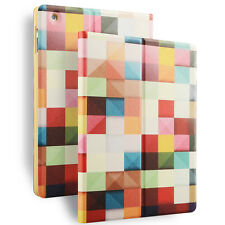 New Slim Magnetic Color plaid PU Leather Smart Cover Case For Apple Ipad 2/3/4