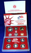 2004-s U.S. Silver Proof Set.  Complete and Original. No toning on silver coins.