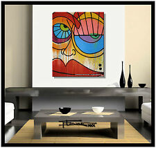 ABSTRACT CANVAS PAINTING MODERN WALL ART....NO RESERVE.....ELOISExxx