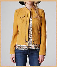 LUCKY BRAND Quilted Bomber Jacket 7W30262 Color: Ochre Size:XL NWT/$399