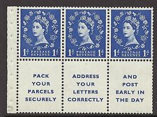 SB29c Wilding Edward Crown Wmk booklet pane with variety UNMOUNTED MINT/MNH