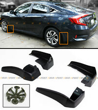 4PCS FRONT & REAR SPLASH GUARD MUD FLAPS FOR 2016-17 10TH GEN HONDA CIVIC ALL