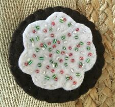 Handmade Felt Cookie Birth Control Case Cozy
