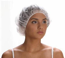 "Hair Net Bouffant Cap Hat White 21"" Disposable Nurse Dental Spa Food 100 Pcs NEW"