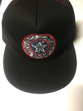 Marvel Captain America Logo Snapback Hat Cap Navy/Red Officially Licensed