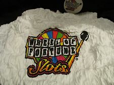 WHEEL OF FORTUNE SLOTS T-SHIR NEW SIZE XL WHITE MEGA JACKPOTS JERZEES BASIC TEE