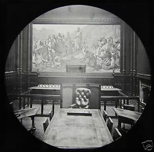 Glass Magic Lantern Slide THE PEERS ROBING ROOM C1890 LONDON HOUSE OF LORDS