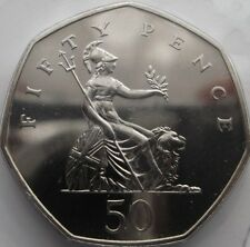 1982 Large 50p Coin. Not released. Low Mintage of Brill unc. Excellent