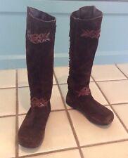 Earth Shoes Boots 'Corset' Kalso Negative Heel Women's Sz 9 Beaver Brown