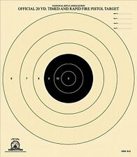 B-5 [B5] NRA Official 20 Yard Timed and Rapid Fire Pistol Target (25) Tagboard