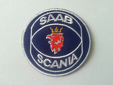 MOTORSPORTS MOTOR RACING CAR SEW / IRON ON PATCH:- SAAB (b)