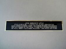 Jim Brown Cleveland Brown Nameplate Signed Football Helmet Display Case 1.5 X 8