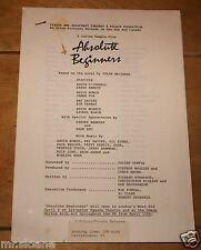 DAVID BOWIE ABSOLUTE BEGINNERS ORIGINAL CAMPAIGN BOOK PRESS PROMO SYNOPSIS 1986