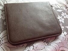 Vintage Goat skin leather notepad organiser
