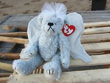 """TY Beanie Baby  STERLING Angel BEAR adjustable Wings approx 6.5"""" tall 1999 Plush"""