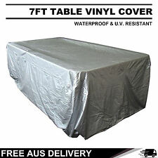 7FT SILVER FULL LENGTH WATERPROOF POOL TABLE COVER FREE POSTAGE
