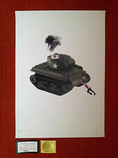 "sérigraphie""TANK"" de DEATH NYC sign-num/Banksy/space invader/fairey obey/cope2"