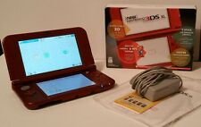 New NINTENDO 3DS XL (Red) In Box With Screen Protectors