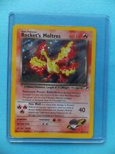 ROCKET'S MOLTRES Gym Heroes Set 12/132 RARE HOLO SHINY P2 Pokemon Card
