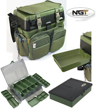 NGT CARP FISHING SEAT BOX SYSTEM, HARNESS RUCKSACK, SIDE TRAY + 6+1 TACKLE BOX