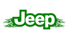 Jeep vinyl decal with flames for cars. Sticker in various colours 30 X 9cm