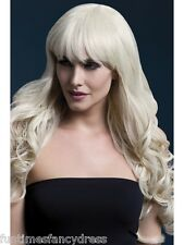 "Blonde Isabelle Long Curly Wig Professional Theatrical Quality 26"" Fancy Dress"
