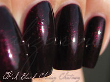 NEW! OPI Nail Polish Vernis BLACK CHERRY CHUTNEY ~ Blackened plum hidden shimmer