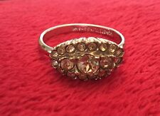 STERLING SILVER CUBIC ZIRCONIA DESIGN RING * SZ 9 * NICE!