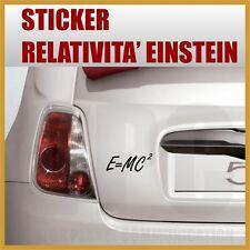 adesivo teoria relatività formula einstein stickers per carrozzerie mobili vetri