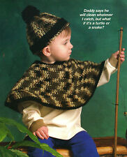 CUTE Toddler Poncho & Hat/Crochet Pattern Instructions