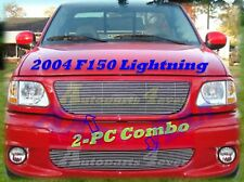2004 04 Ford F150 F-150 Lightning Polished New Billet Grille Grill COMBO