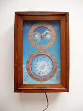 Retro ASTROLOGICAL CLOCK * Fairfield Mechtronics * Moon Phase * Vintage RARE