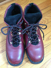Blondo 10  Women's Burgandy Leather Boots