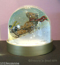 CAPYBARA AND GUINEA PIG PAINTING GLITTER SNOW DOME GLOBE BY SUZANNE LE GOOD