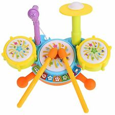New Volume Regulate Jazz Drum Set Baby Music Toy Set Development Toy 35DI