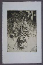 Horst Janssen In sich selbst verliebt Radierung 1984 handsigniert