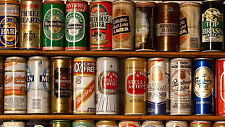 "Beer Cans - Man Cave - 42"" x 24"" LARGE WALL POSTER PRINT NEW."