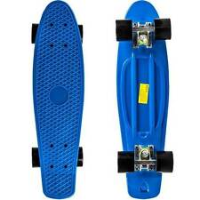 22 inch Navy Plastic Cruiser Penny Style Skateboard Complete Deck Mini Board